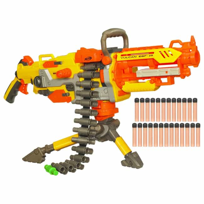The Nerf Vulcan is listed (or ranked) 2 on the list Cool Toys That Will Make You Wish You Were a Kid Again