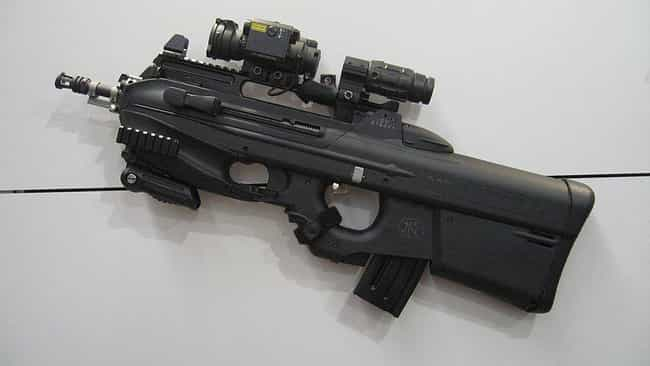 FN F2000 is listed (or ranked) 3 on the list Actual Weapons That Look Like They're From A Sci-Fi Movie