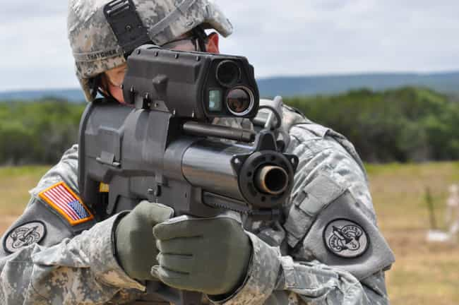 XM-25 Grendade Launcher is listed (or ranked) 2 on the list Actual Weapons That Look Like They're From A Sci-Fi Movie