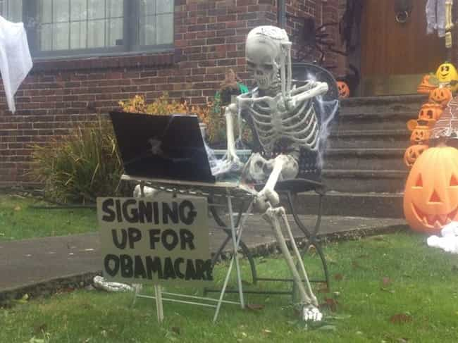 Ron Paul's Front Yard is listed (or ranked) 3 on the list The Worst Halloween Decorations in America