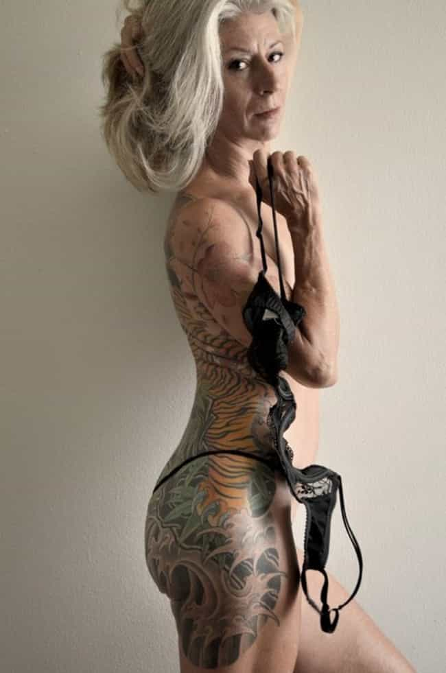 She Has Coined a New Type of S... is listed (or ranked) 2 on the list 28 of the Most Hardcore Old People with Tattoos