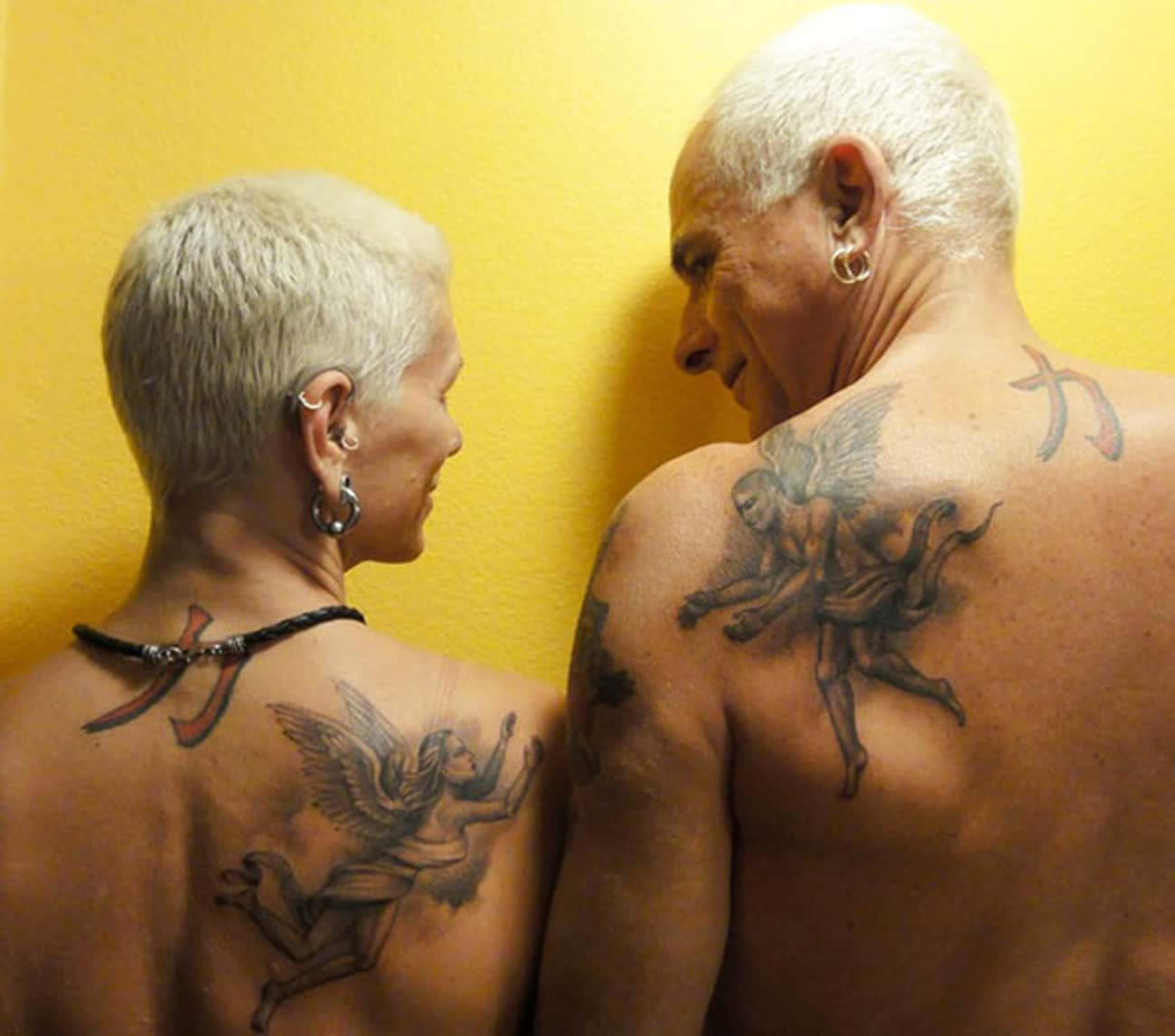 True Love Can Be Told With Ink is listed (or ranked) 3 on the list 18 Cool Older People With Tattoos