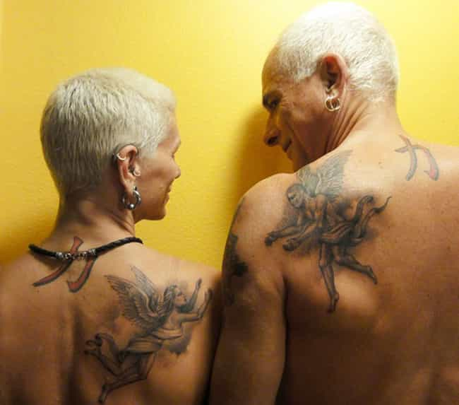 True Love Can Be Told With Ink is listed (or ranked) 3 on the list 28 of the Most Hardcore Old People with Tattoos