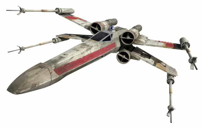 X-Wing is listed (or ranked) 2 on the list Star Wars Ships You'd Most Like to Take for a Spin
