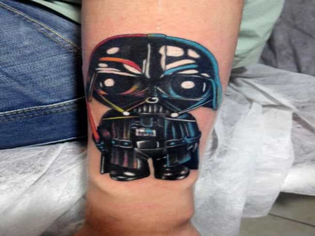 This Beautifully Colored Darth... is listed (or ranked) 1 on the list 25 Incredible Tattoos Inspired by Family Guy