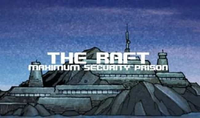 The Raft is listed (or ranked) 3 on the list Comic Book Prisons You Wouldn't Want to Be Locked Up In