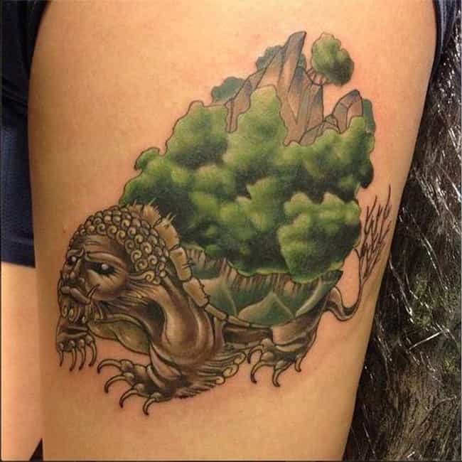 This Large Lion Turtle A... is listed (or ranked) 6 on the list 26 Incredible Tattoos Inspired by Avatar: The Last Airbender