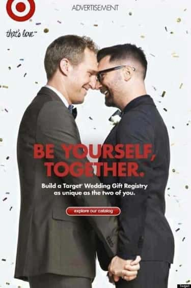Target is listed (or ranked) 1 on the list These Companies Promote Gay-Friendly Ideals