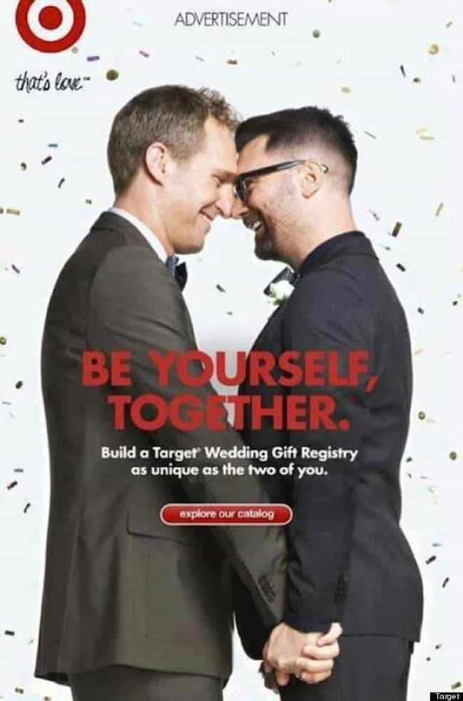 Target is listed (or ranked) 2 on the list These Companies Promote Gay-Friendly Ideals