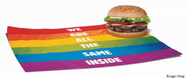 Burger King is listed (or ranked) 9 on the list These Companies Promote Gay-Friendly Ideals