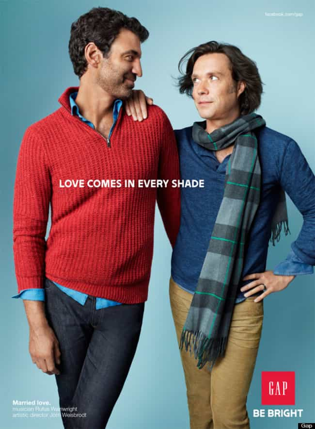The Gap is listed (or ranked) 10 on the list These Companies Promote Gay-Friendly Ideals