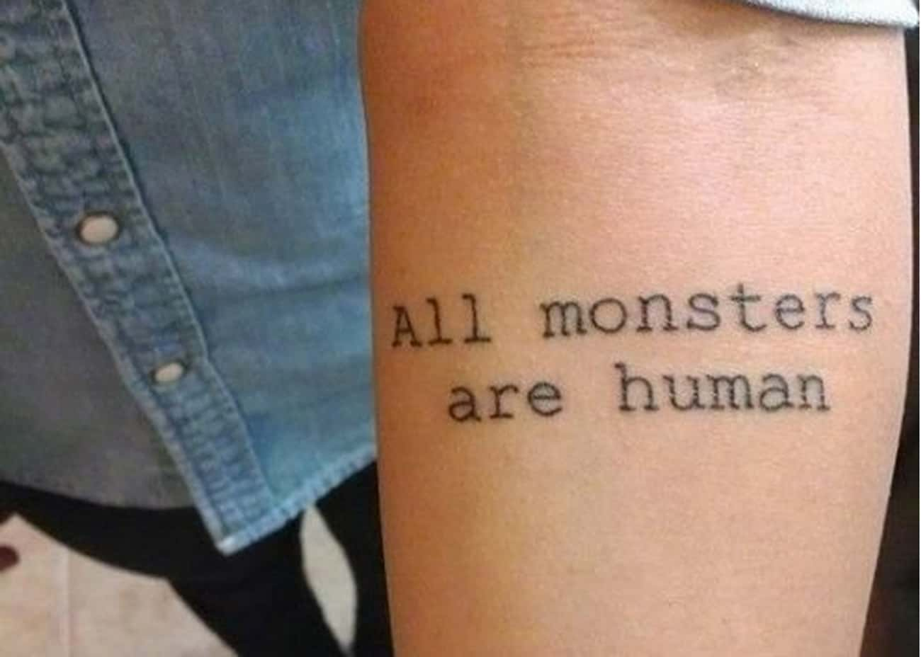 This Quote About Who You Reall is listed (or ranked) 2 on the list 25 Incredible Tattoos Inspired by American Horror Story