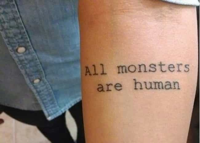 This Quote About Who You... is listed (or ranked) 2 on the list 25 Incredible Tattoos Inspired by American Horror Story