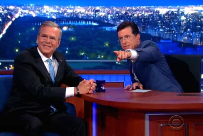 Jeb! Mania, Running Wild on Yo... is listed (or ranked) 4 on the list The Best Stephen Colbert 2016 Candidate Interview Moments