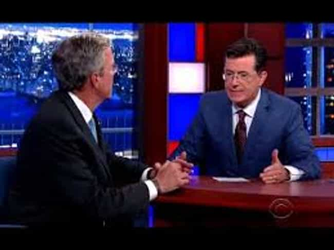 Jeb Is Going to Make You... is listed (or ranked) 2 on the list The Best Stephen Colbert 2016 Candidate Interview Moments