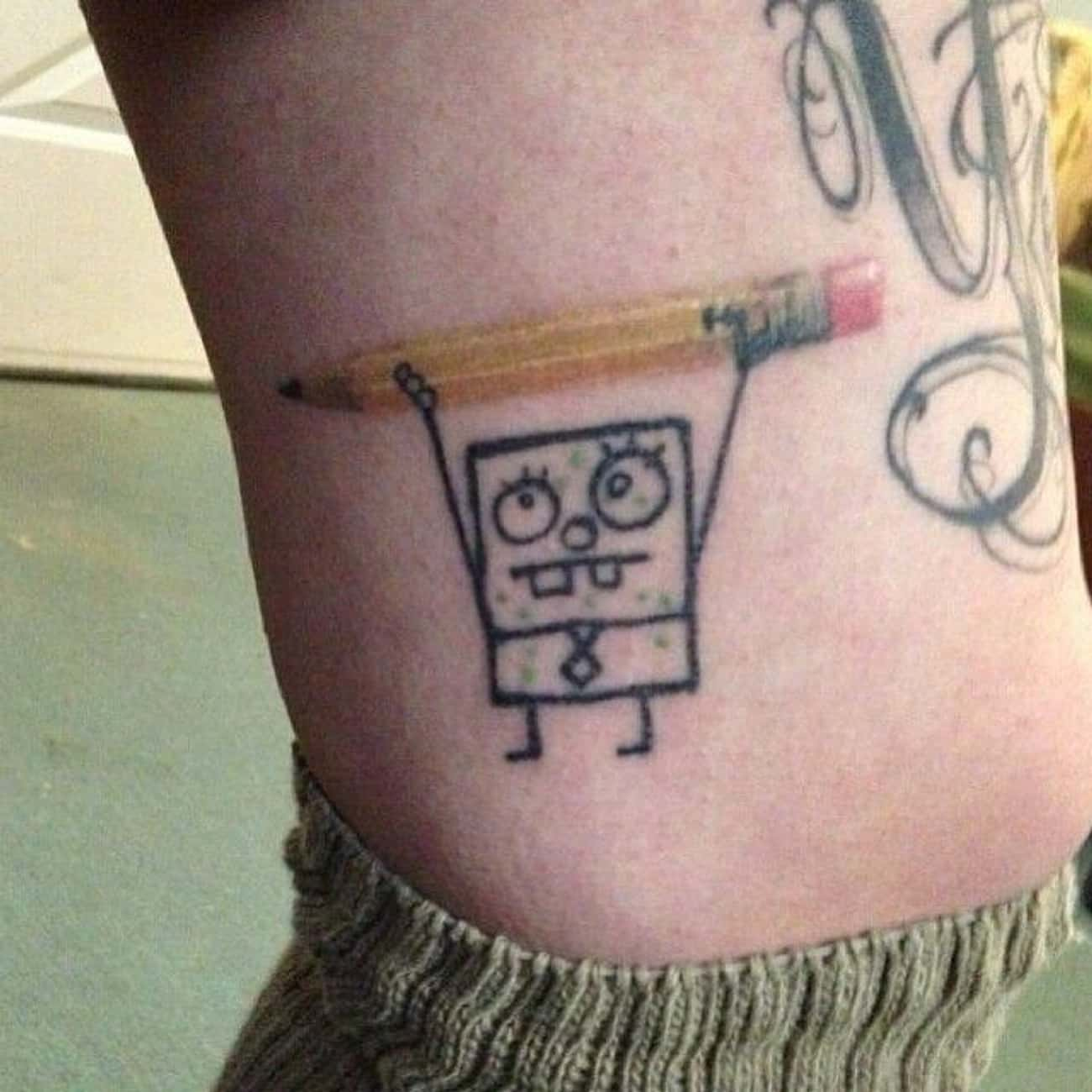 SpongeBob Finds a Magic Pencil is listed (or ranked) 2 on the list 24 Incredible Tattoos Inspired by SpongeBob SquarePants