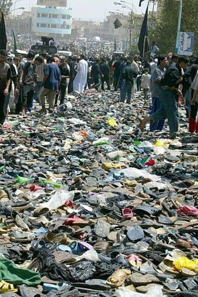 2005 Baghdad Bridge Stampede is listed (or ranked) 3 on the list The Worst Human Stampedes