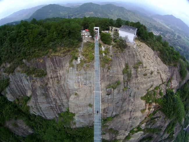 This Vertigo-Inducing Glass Bo... is listed (or ranked) 1 on the list 29 Of The World's Most Terrifying Bridges