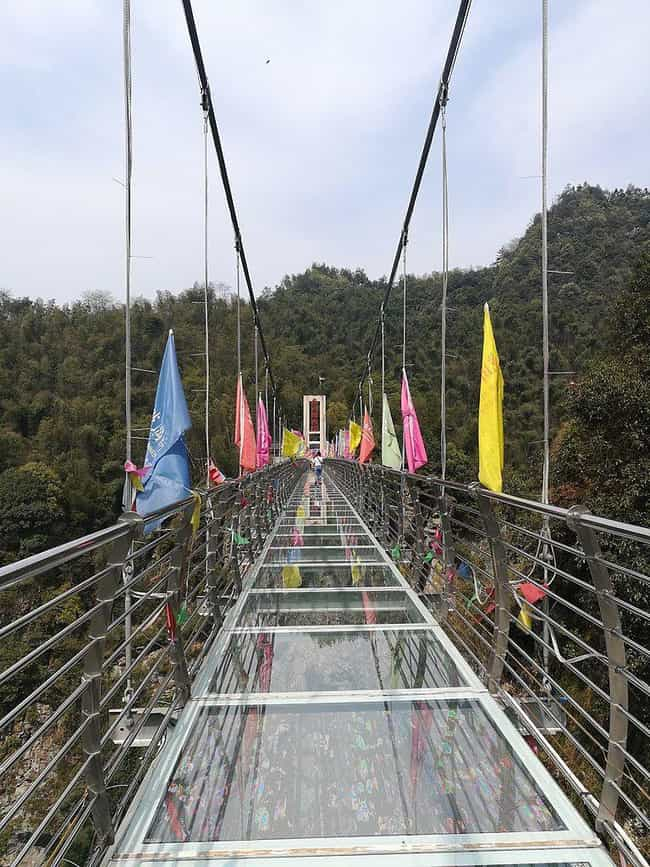 This Vertigo-Inducing Gl... is listed (or ranked) 2 on the list 29 Of The World's Most Terrifying Bridges