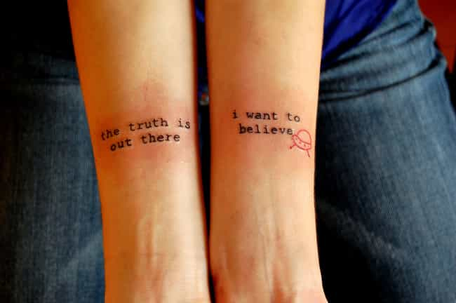 Small X Files Tattoo: Cool Tattoos Inspired By The X