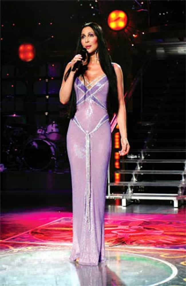 Purple Skin for Vegas is listed (or ranked) 3 on the list Cher's Outfits Through the Years, Ranked