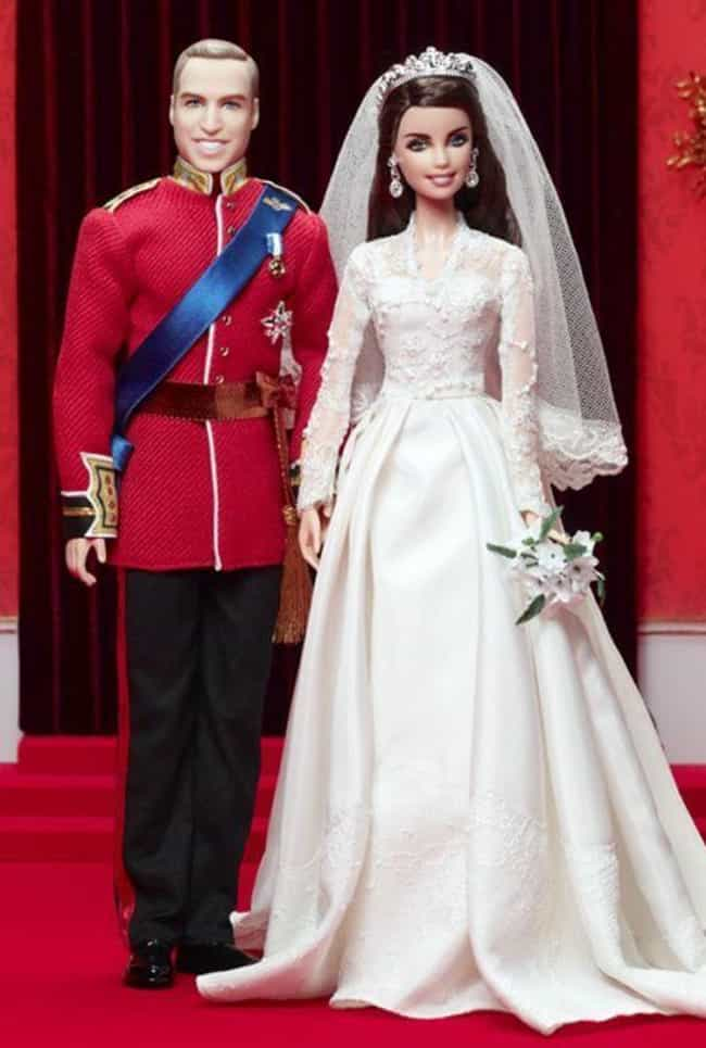 Prince William and Kate Middle... is listed (or ranked) 2 on the list The Most Accurate Celebrity Barbie Dolls