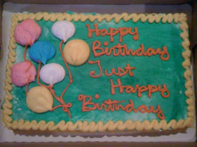 most frustrated happy birthday ever - Cake Decorations