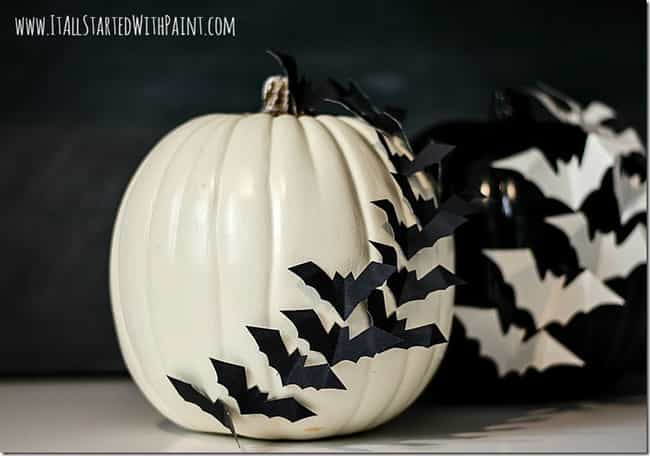 Make a Bat Silhouette is listed (or ranked) 4 on the list Pumpkin Decorating Ideas That Don't Require Carving