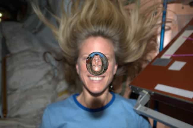 Karen Nyberg's 2013 Water ... is listed (or ranked) 4 on the list The Best Space Selfies