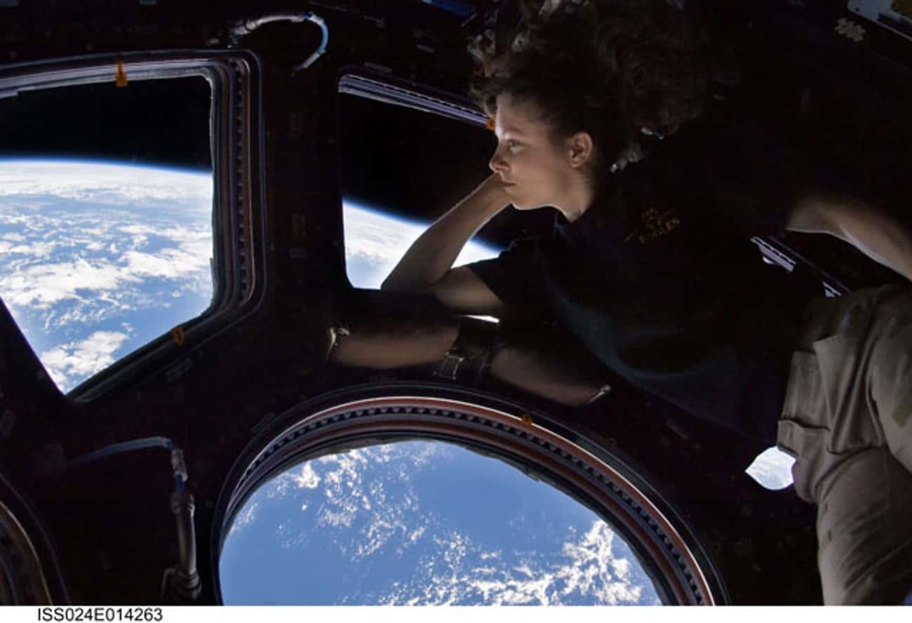 Tracy Caldwell Dyson Took This Self-Portrait on the Space Station in 2010