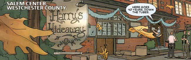 Harry's Hideaway is listed (or ranked) 2 on the list Comic Book Bars Where You'd Like to Get a Drink