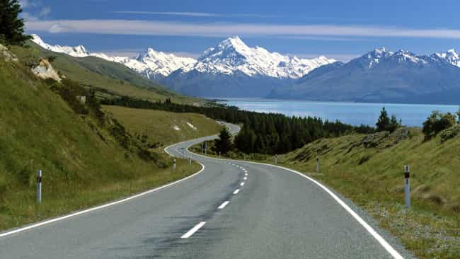 New Zealand's Southern Alps is listed (or ranked) 4 on the list The Best Driving Roads in the World