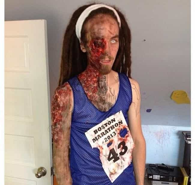 A Boston Marathon Victim is listed (or ranked) 1 on the list Offensive Halloween Costumes That May Have Crossed The Line
