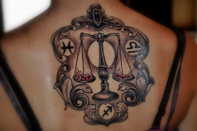 Libra Tattoo Designs