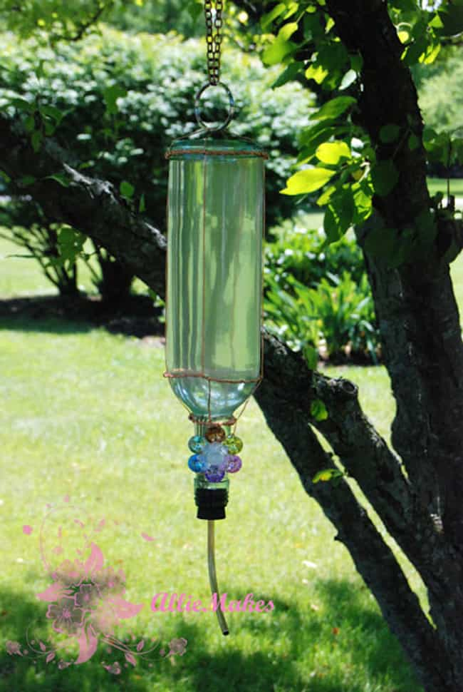 Make a Hummingbird Feeder is listed (or ranked) 4 on the list Things That You Can Do With Old Wine Bottles