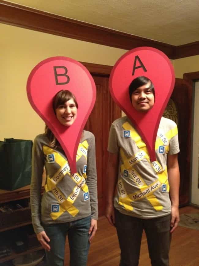 Google Maps is listed (or ranked) 3 on the list Last Minute DIY Halloween Costumes Even You Can Make