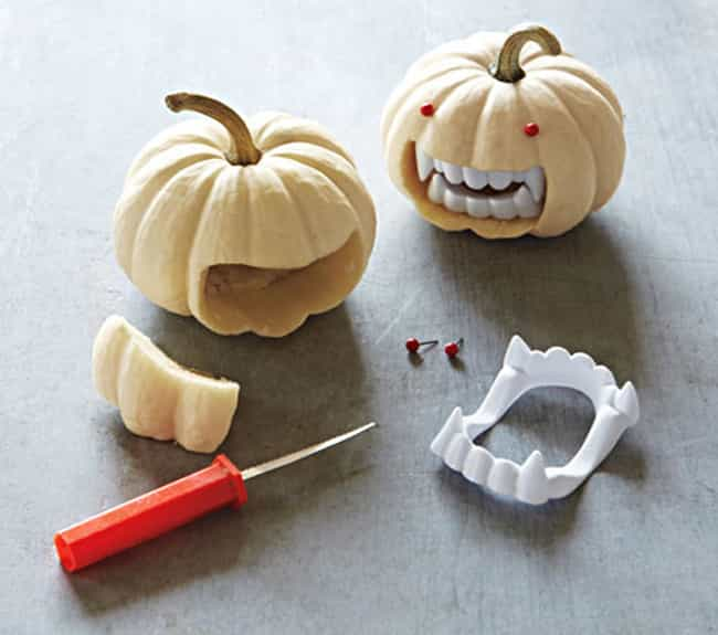 Carve Out Just Enough Room to ... is listed (or ranked) 1 on the list 22 Pumpkin Carving Hacks That Change Everything