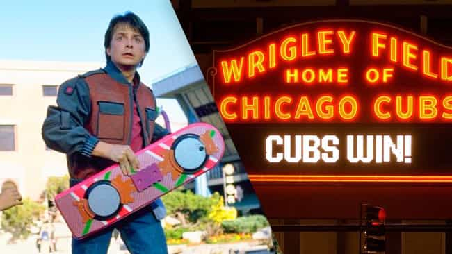 The Cubs Might Win the 2015 Wo... is listed (or ranked) 1 on the list Ways Back to the Future Predicted the Future