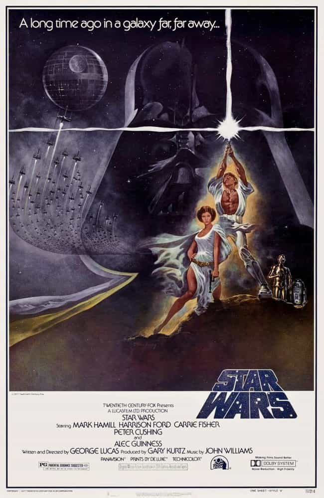 'A New Hope' (Style A) T... is listed (or ranked) 1 on the list The Best Star Wars Posters