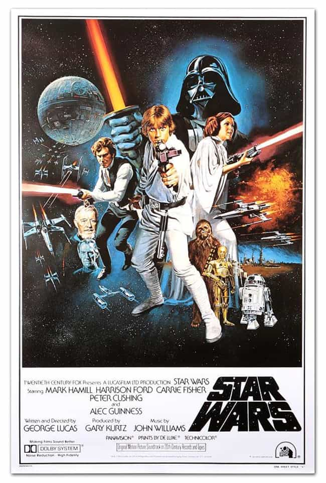 'A New Hope' (Style B) T... is listed (or ranked) 3 on the list The Best Star Wars Posters