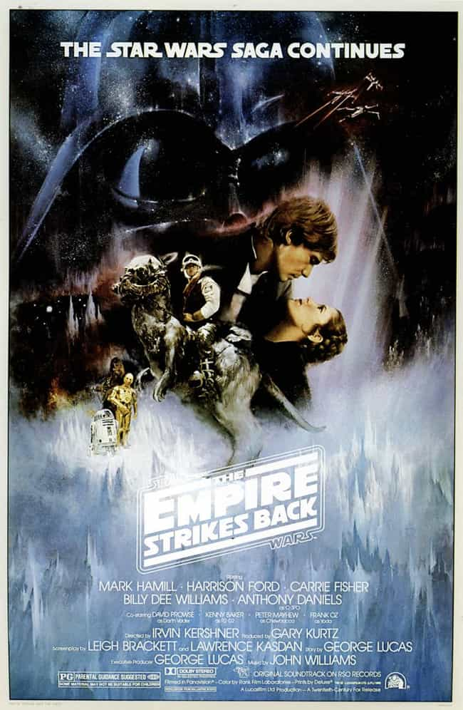 the empire strikes back style a theatrical poster