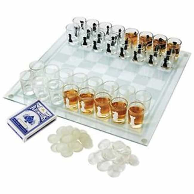 Shot Glass Chess Set is listed (or ranked) 2 on the list The Classiest Ways to Get Drunk