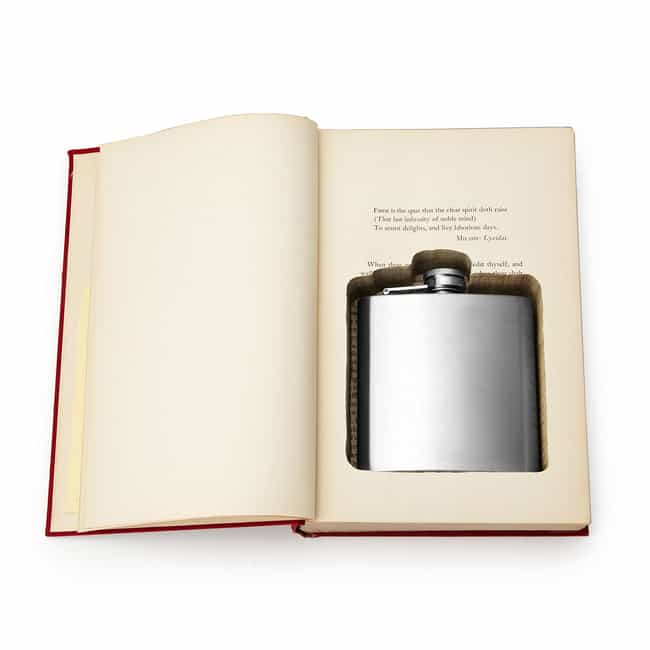 Flask Book Box is listed (or ranked) 4 on the list The Classiest Ways to Get Drunk