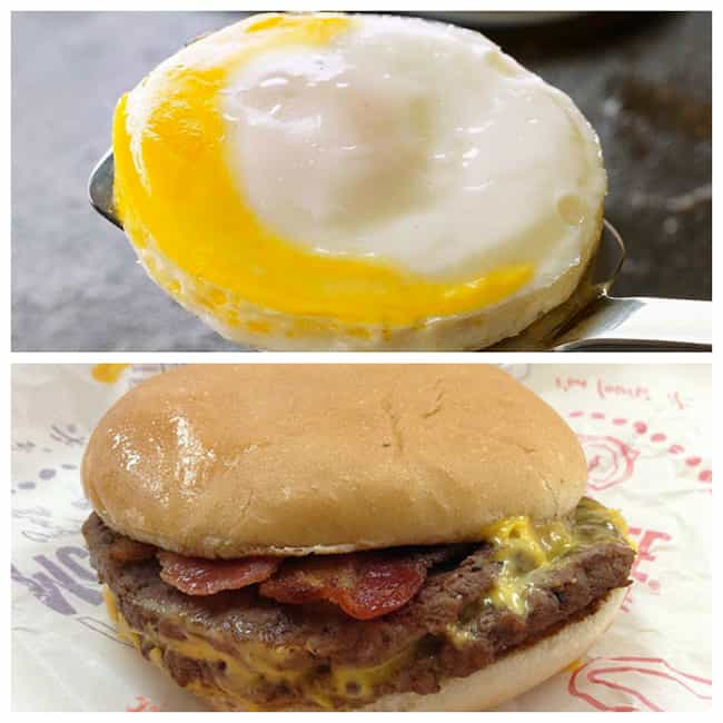 Bacon and Egg McDouble ... is listed (or ranked) 2 on the list 20 Insane McDonald's Breakfast/Lunch Combos You Can Now Make