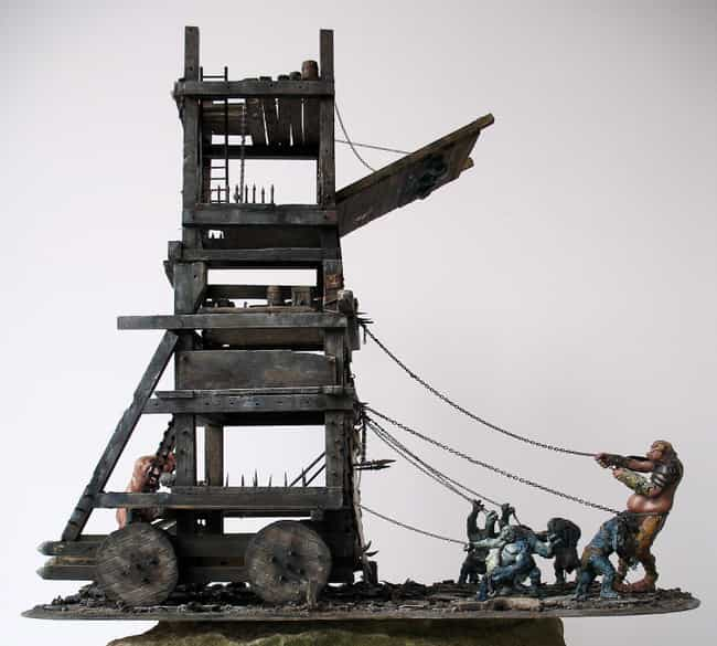 Siege Tower is listed (or ranked) 4 on the list The Most Iconic Siege Weapons of All Time