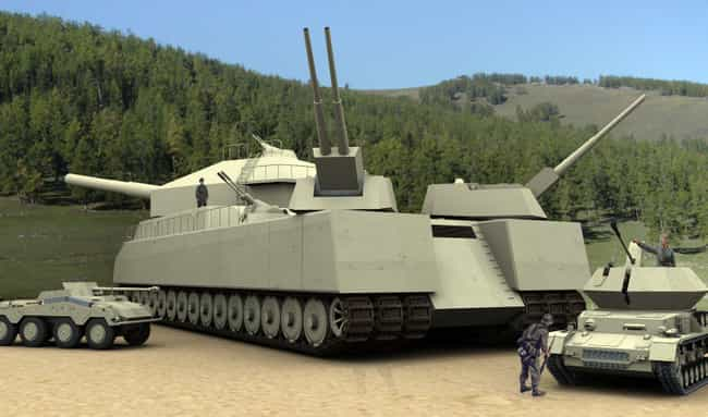 Landkreuzer P1000 Ratte ... is listed (or ranked) 1 on the list Secret WW2 Weapons You've Never Heard About Until Now