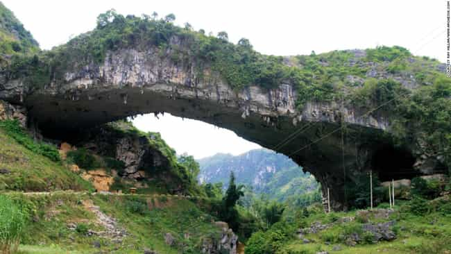 This Magical Bridge in China is listed (or ranked) 3 on the list The Coolest Natural Bridges Built by the Earth