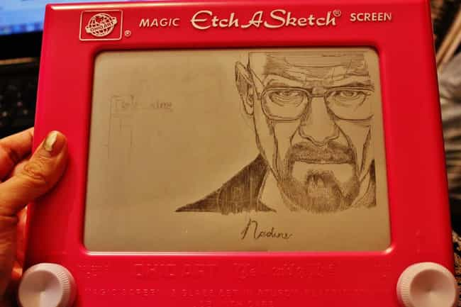 I Am the One Who Sketche... is listed (or ranked) 2 on the list The Coolest Etch-A-Sketch Art Ever Etched