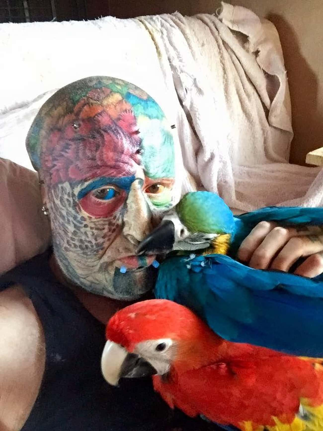 Ted Richards's Parrot Modifica is listed (or ranked) 4 on the list The Most Extreme Body Modifications Ever