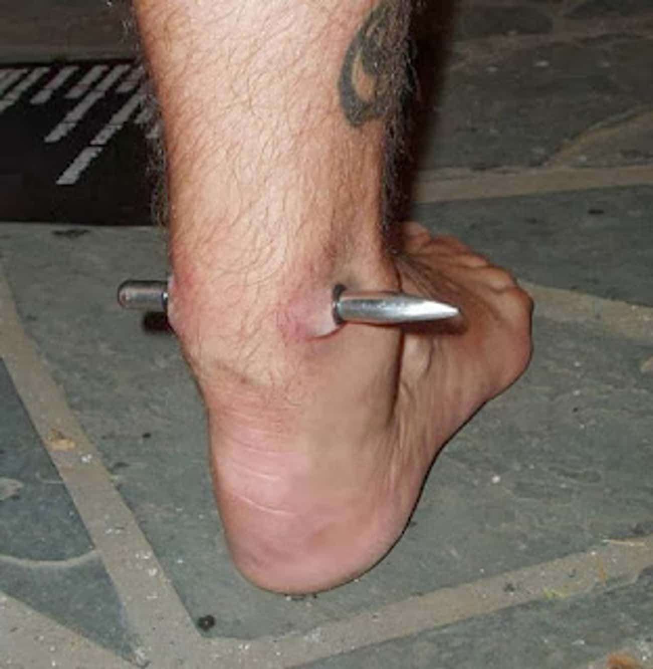 Mr. Tetanus's Achilles Piercin is listed (or ranked) 2 on the list The Most Extreme Body Modifications Ever